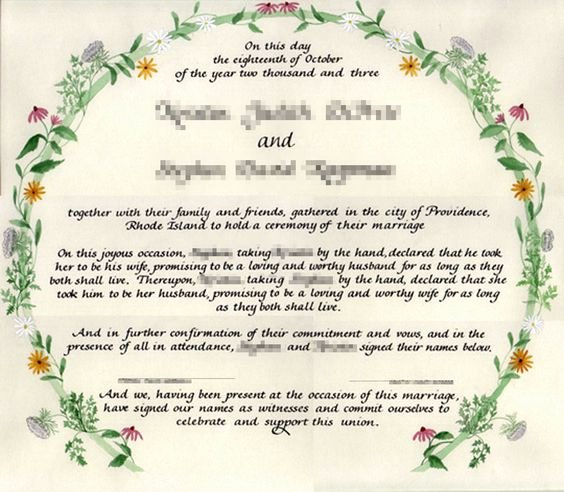 Quaker Wedding Certificate Template Elegant Blank Marriage Certificate Template