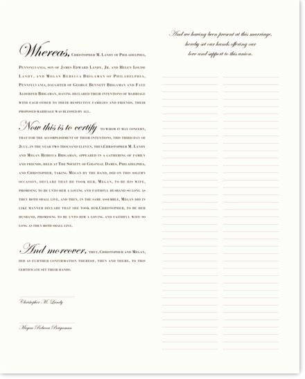 Quaker Wedding Certificate Template Elegant Quaker Wedding Certificate