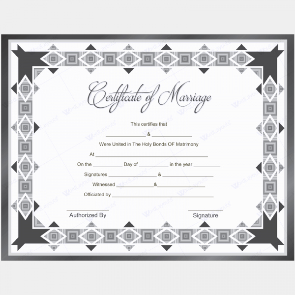 Quaker Wedding Certificate Template Fresh Marriage Certificate 11