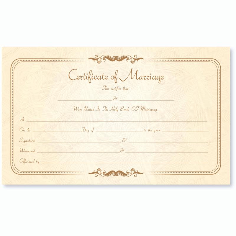 Quaker Wedding Certificate Template Fresh Marriage Certificate 14