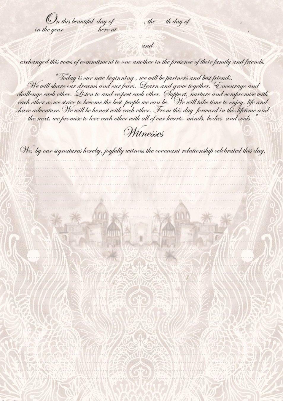 Quaker Wedding Certificate Template Unique Quaker Marriage Certificate Template