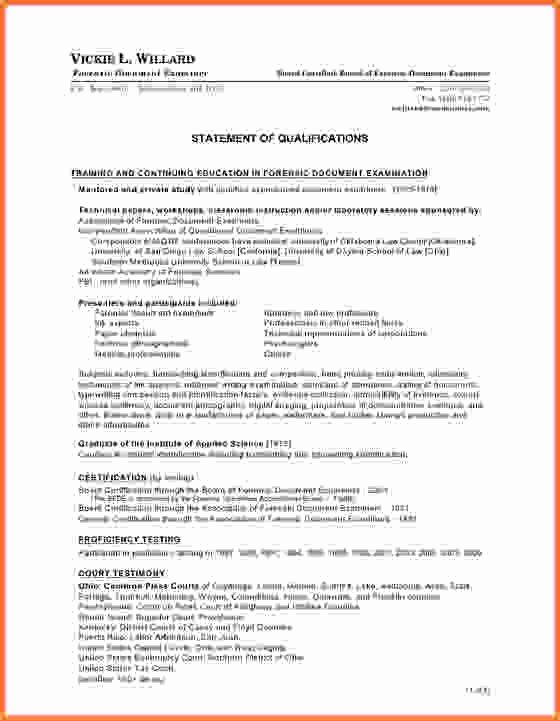 Qualification Statement Sample Luxury Index Of Cdn 29 1993 546