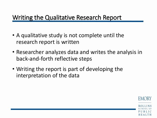 Qualitative Report Example Luxury Writing Qualitative Research Reports Powerpoint