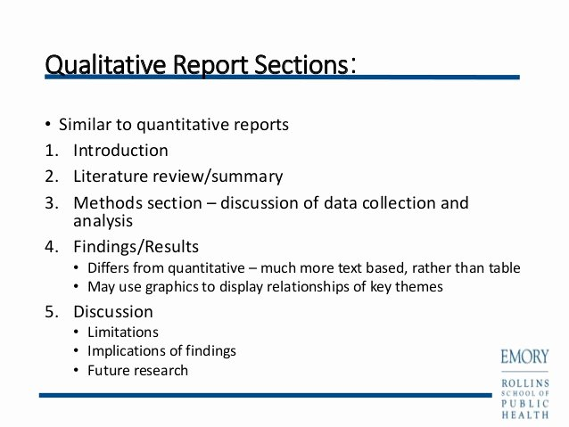 Qualitative Report Example New Writing Qualitative Research Reports Powerpoint