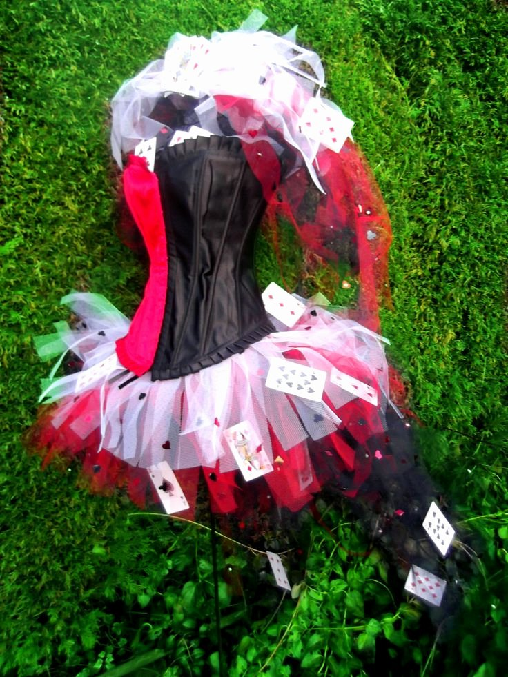 Queen Of Hearts Costume Pinterest Best Of Queen Hearts Wonderland Cards Tutu Corset Set Red Black