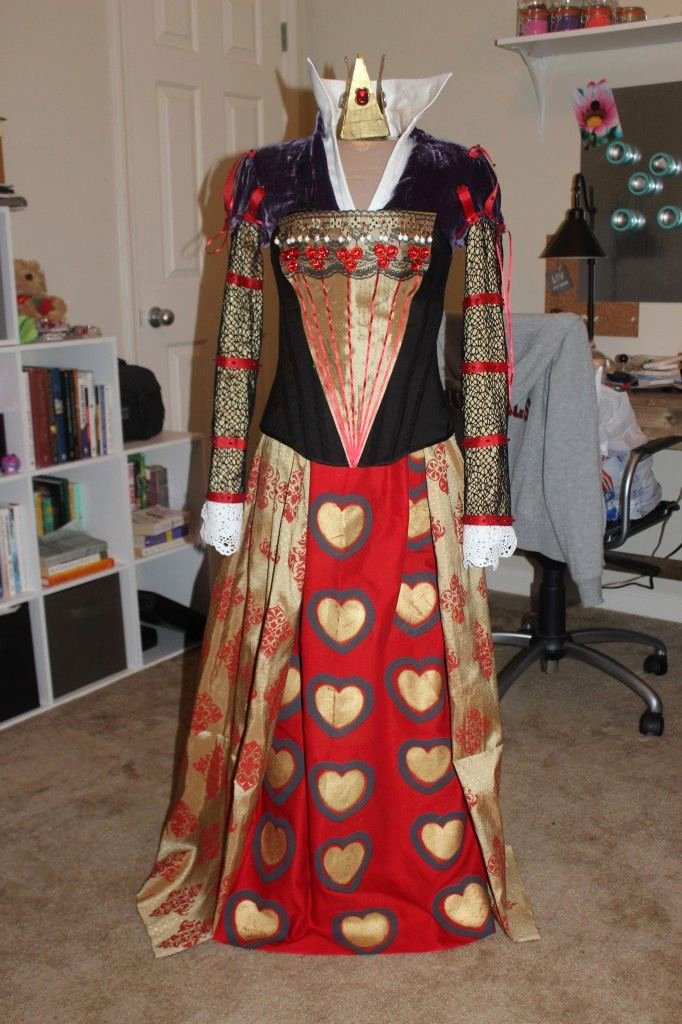 Queen Of Hearts Costume Pinterest Elegant Diy Queen Of Hearts Costume Halloween