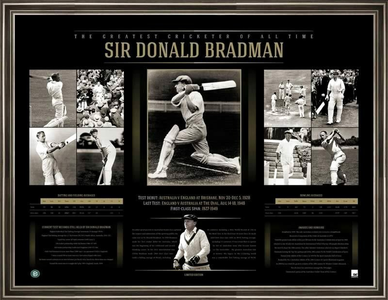 Quick as A Cricket Printables Inspirational Sir Donald Bradman the Greatest Cricketer Framed Print