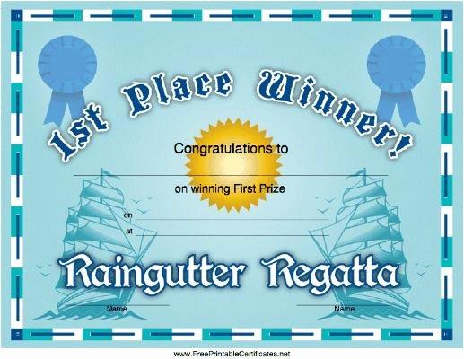 Raingutter Regatta Certificate Template Inspirational Free Printable Raingutter Regatta Certificates