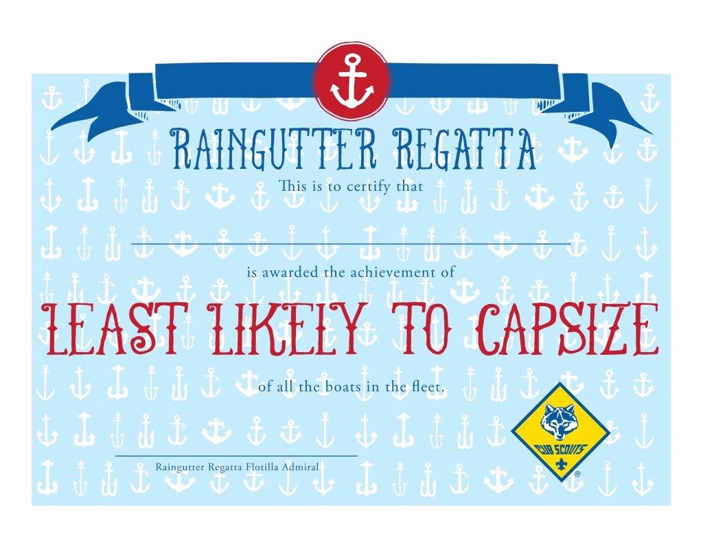 Raingutter Regatta Certificate Template Unique Printable Raingutter Regatta Certificates for 2015