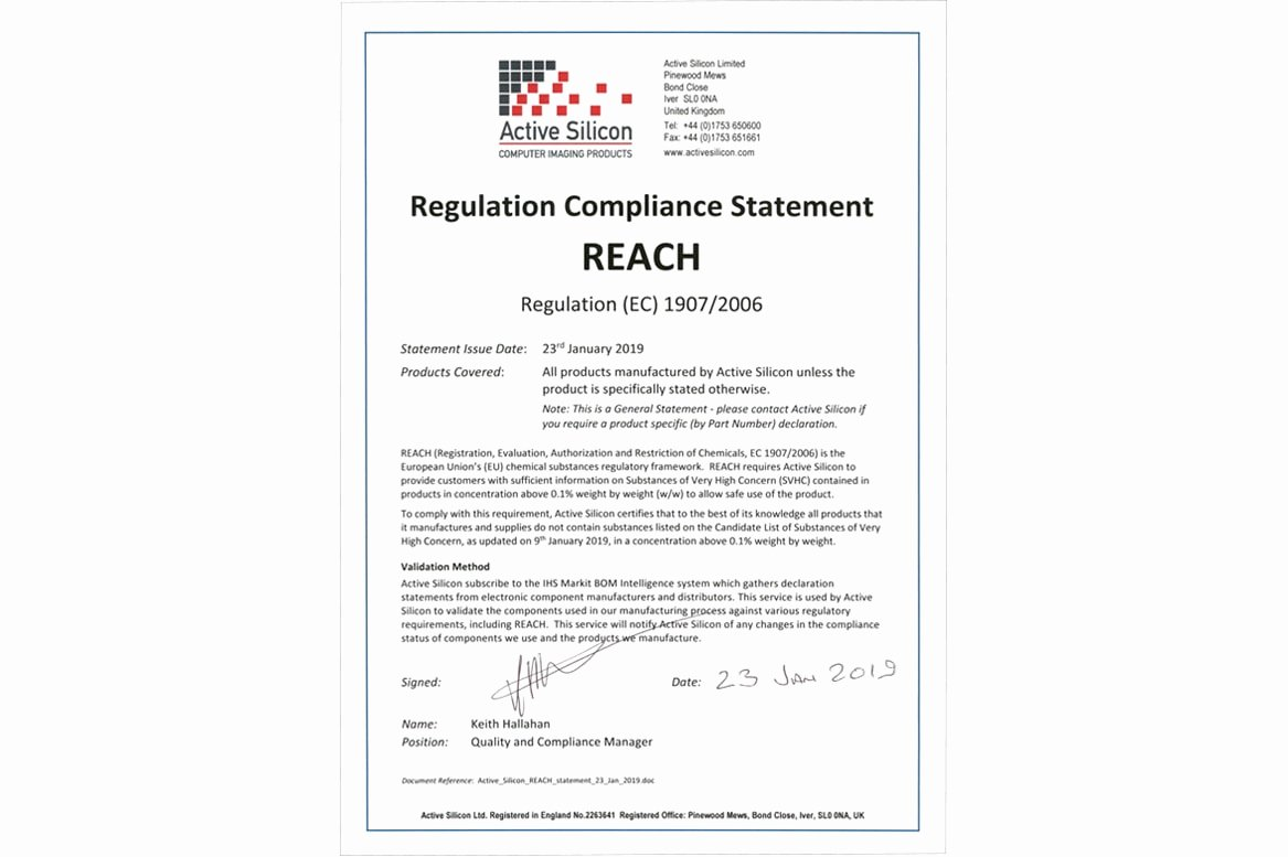 Reach Certificate Of Compliance Template Lovely Certifications and Accreditations