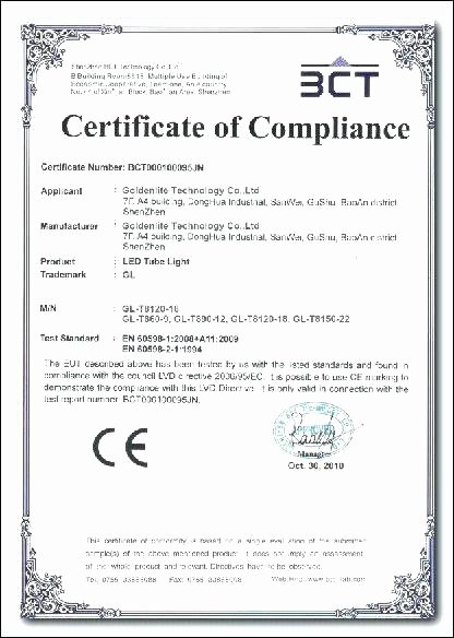 Reach Certificate Of Compliance Template New Pliance Template – Tucsontheaterfo