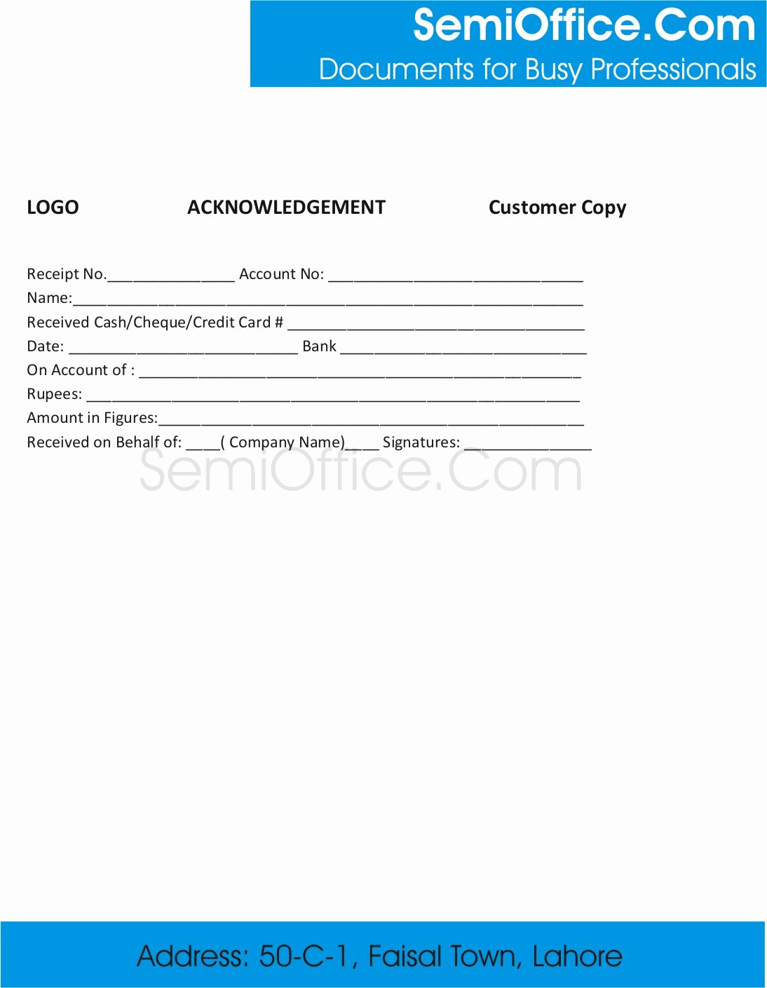 Receipt Of Documents Beautiful Sample Acknowledgement Receipt Template