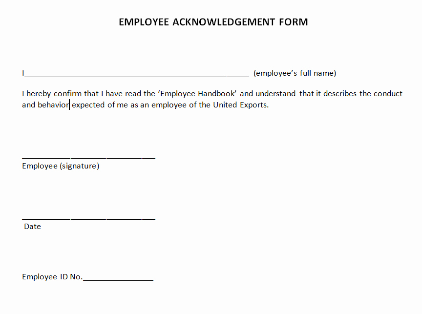 Receipt Of Documents Elegant Manage Employee Acknowledgement forms with Docread and