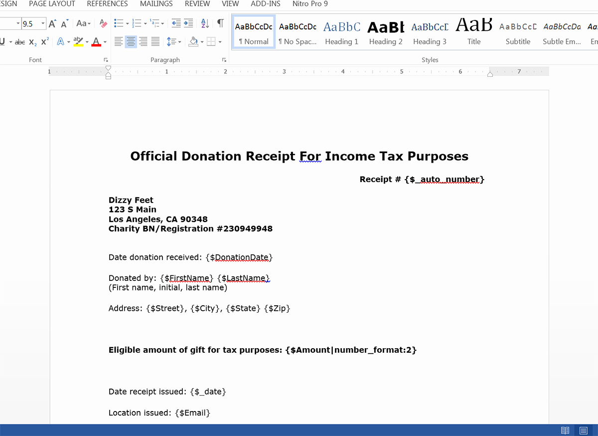 create donation tax receipts from salesforce