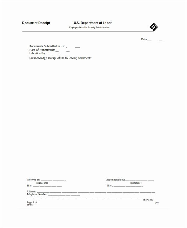 Receipt Of Documents Inspirational Receipt Template 35 Free Word Pdf Documents Download