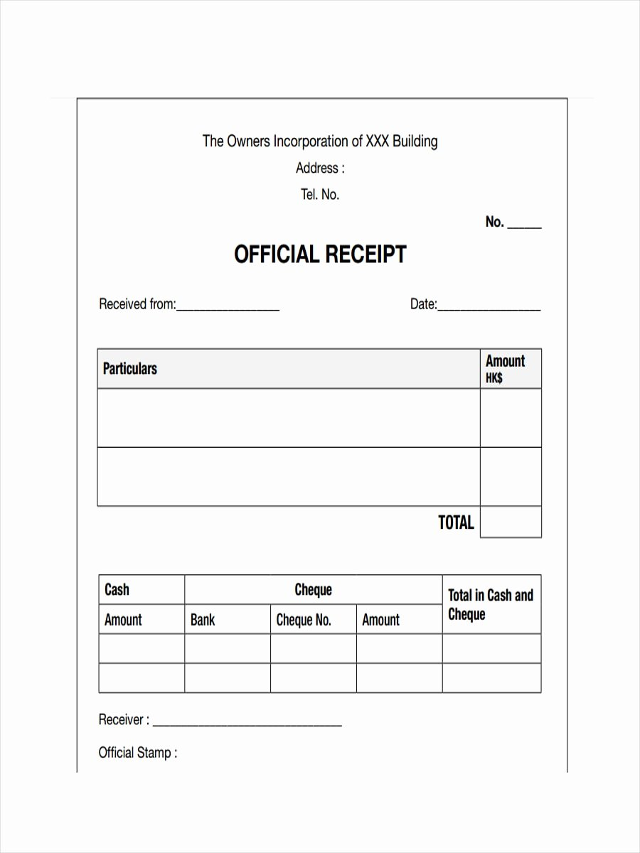 Receipt Of Notice Inspirational Free 28 Receipt Examples In Pdf