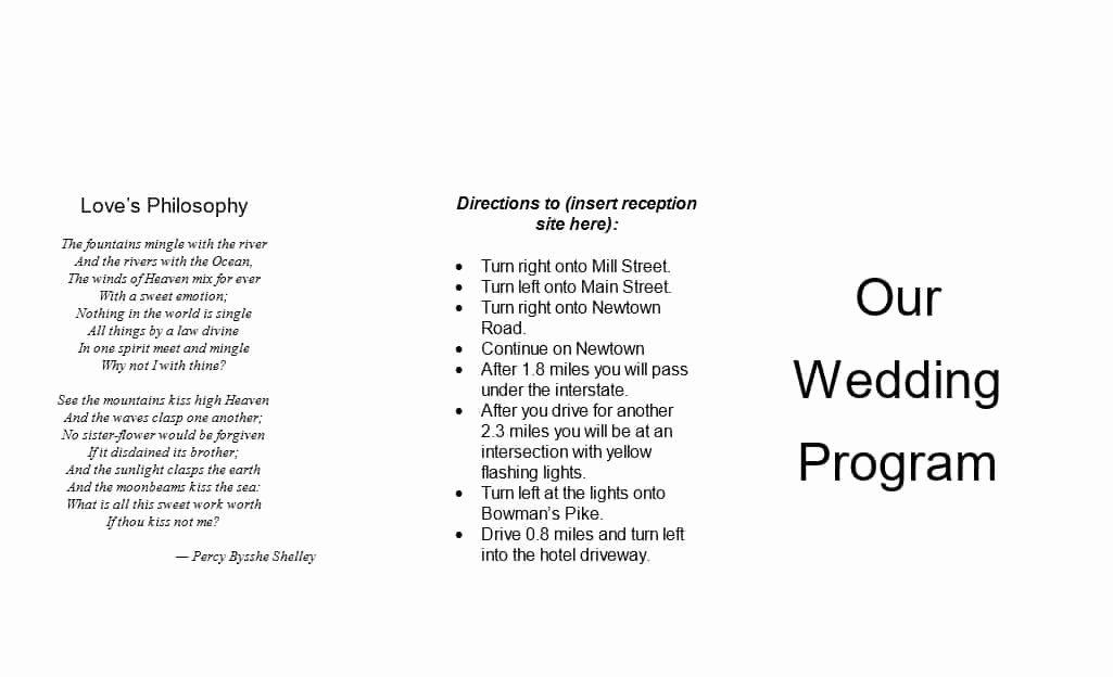 Reception Program Template Awesome 37 Printable Wedding Program Examples & Templates