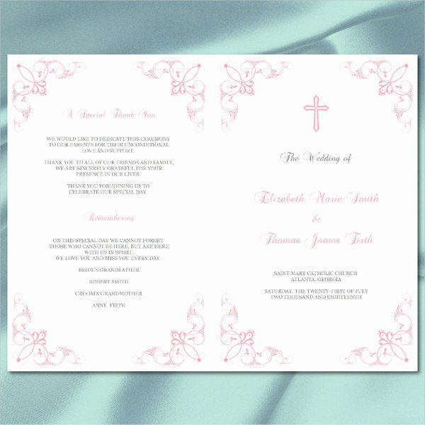 Reception Program Template Fresh 7 Wedding Reception Program Templates Psd Vector Eps