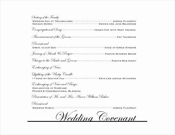 Reception Program Template Fresh Wedding Program Templates – 15 Free Word Pdf Psd