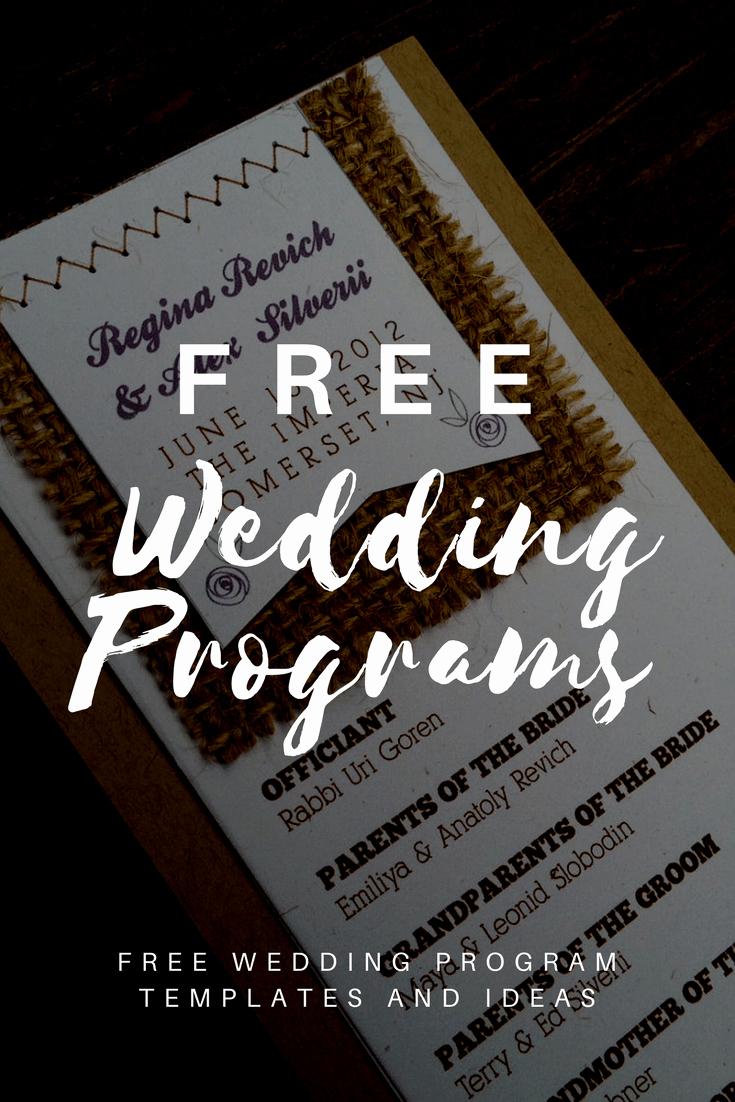 Reception Program Template Luxury Free Wedding Program Templates