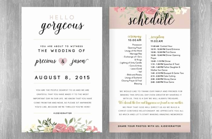 Reception Program Template New How to Plan A Wedding Reception Timeline
