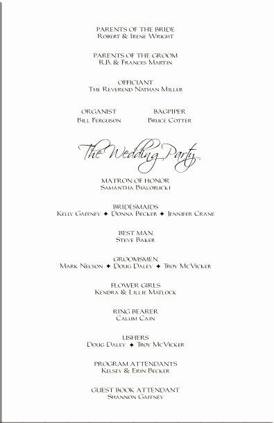 Reception Program Template Unique Free Templates Wedding Programs Reception Filecloudgem