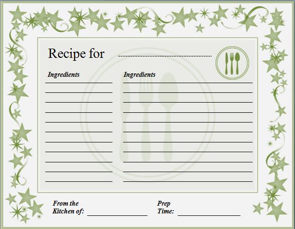 Recipe Template Microsoft Word Elegant Ms Word Recipe Card Template