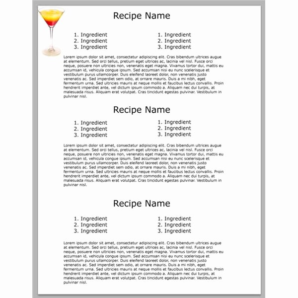 Recipe Template Microsoft Word Fresh 5 Yummy Shop Cookbook Templates Free Downloads for