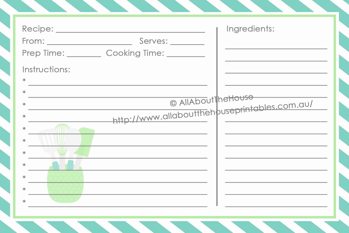 Recipe Template Microsoft Word Fresh Full Page Recipe Template for Word