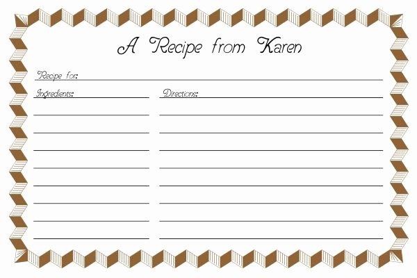 Recipe Template Microsoft Word Inspirational Recipe Card Template 2