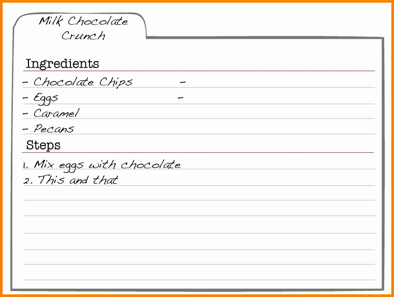 Recipe Template Microsoft Word Lovely 5 Free Editable Recipe Card Templates for Microsoft Word