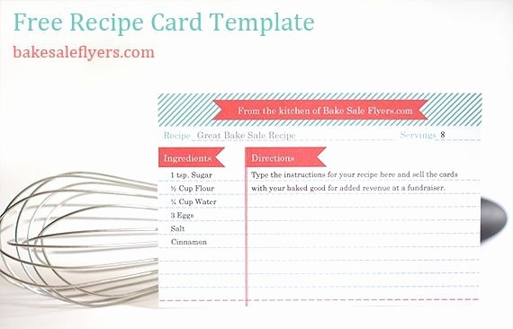 Recipe Template Microsoft Word Lovely Free Recipe Card Template You Can Type In Your Recipe In