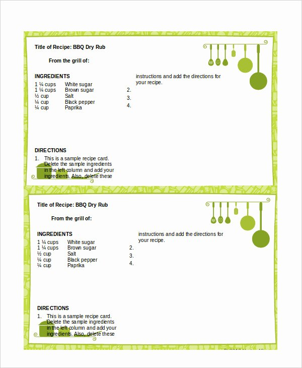 Recipe Template Microsoft Word Lovely Recipe Template