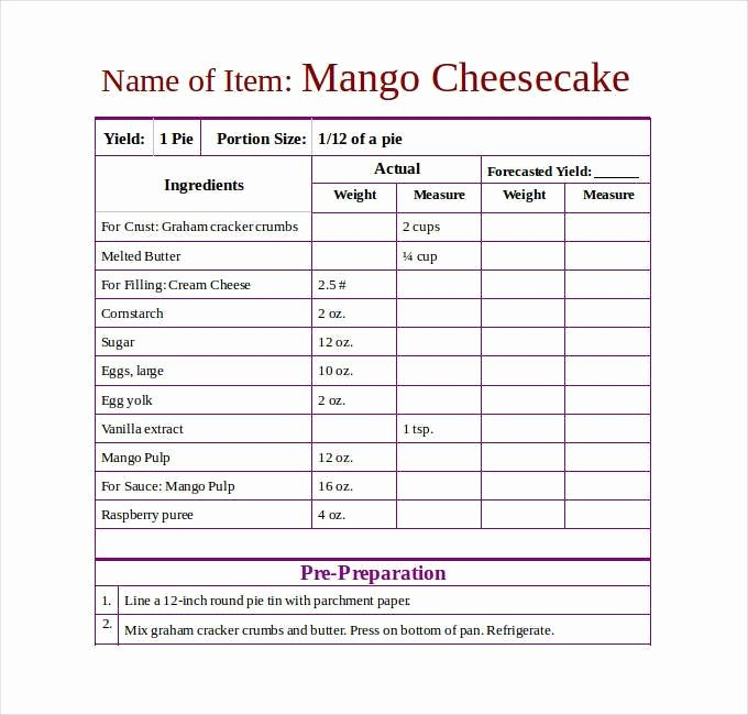 Recipe Template Microsoft Word Luxury 43 Amazing Blank Recipe Templates for Enterprising Chefs