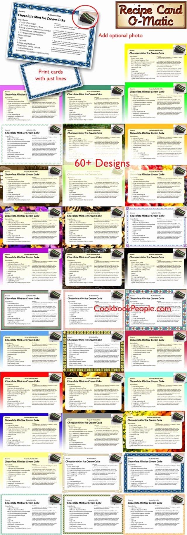 Recipe Template Microsoft Word Luxury Free Editable Recipe Card Templates for Microsoft Word