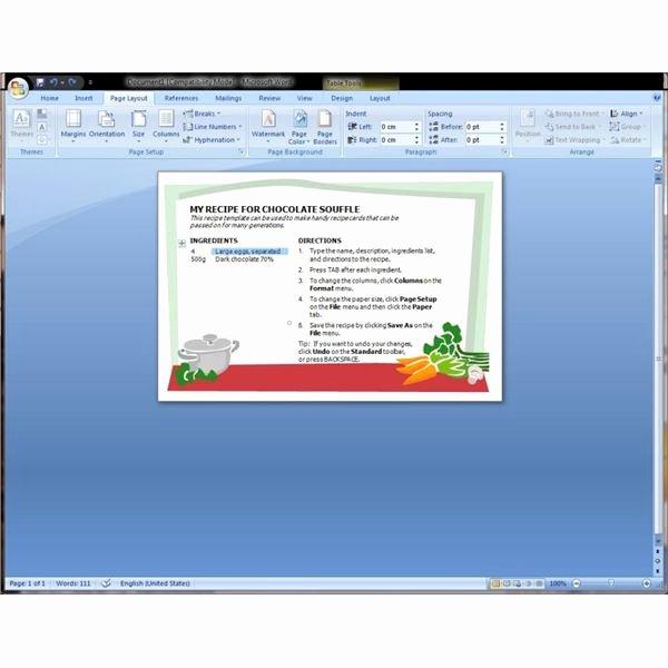Recipe Template Microsoft Word New Microsoft Word Recipe Template Help Find and Download