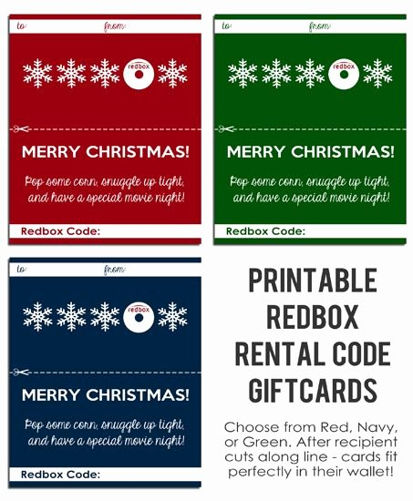Redbox Gift Certificate Template Best Of Free Printable Redbox Gift Cards From Em Il Ie