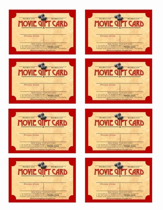 Redbox Gift Certificate Template Best Of Pinterest • the World's Catalog Of Ideas