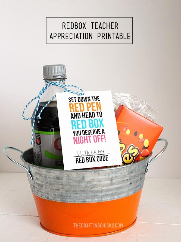 Redbox Gift Certificate Template Best Of Redbox Teacher Appreciation Printable the Crafting Chicks