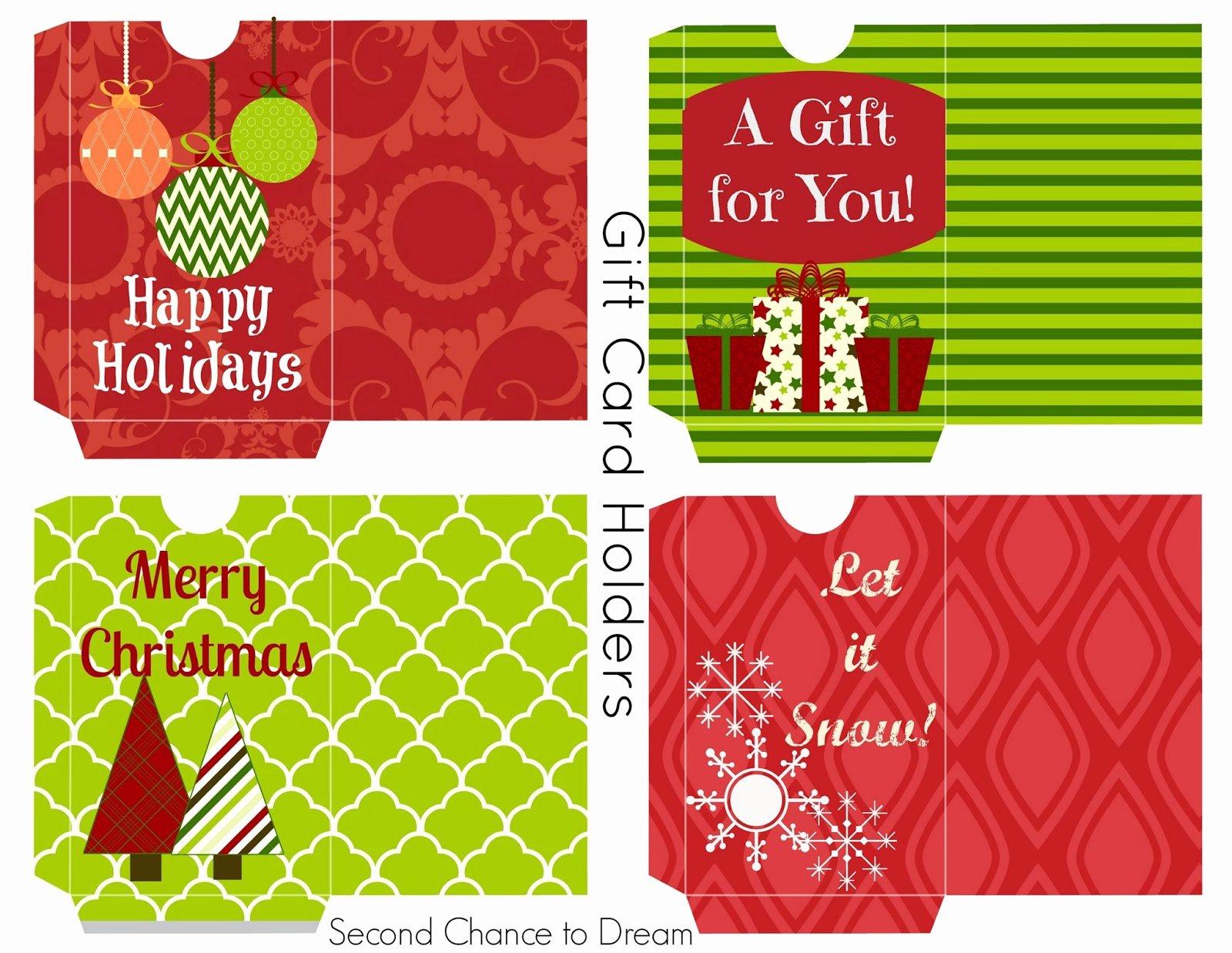 Redbox Gift Certificate Template Fresh Merry Christmas Gift Card Printable Christmas Printables