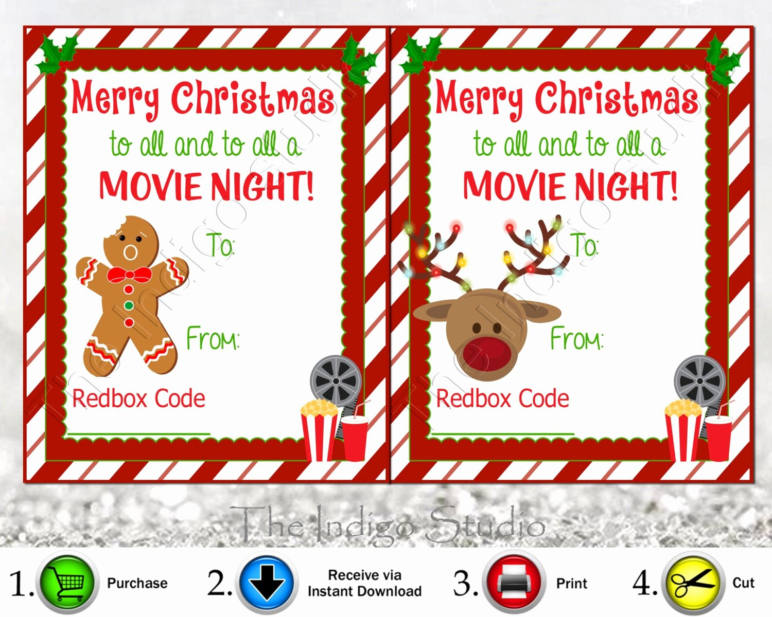 Redbox Gift Certificate Template Unique Redbox Codes T Tags 4 Different Designs Cards Digital