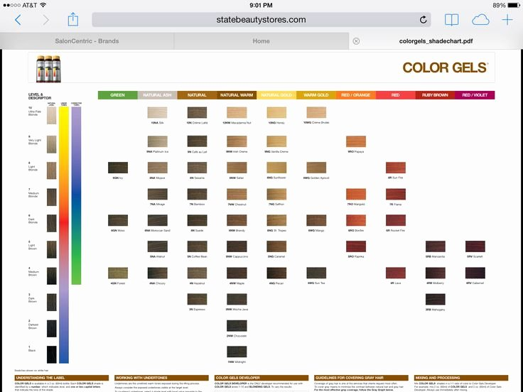 Redken Demi Permanent Hair Color Chart Awesome Redken Color Fusion Permanent Hair Hairstyles Ideas