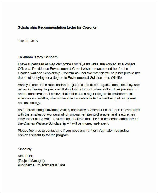 Reference Letter for Nurse Co Worker Elegant Coworker Re Mendation Letter 10 Free Word Pdf