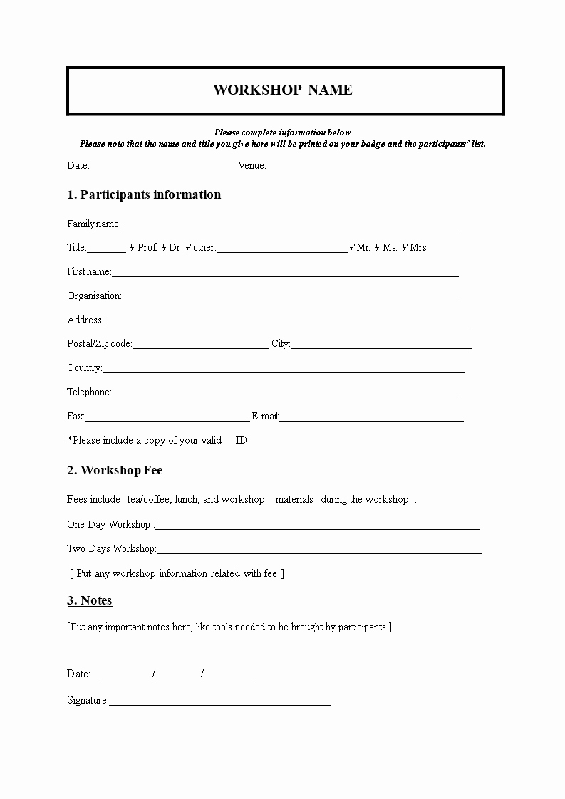 Registration form for Summer Camp Elegant Church Nursery Registration form thenurseries