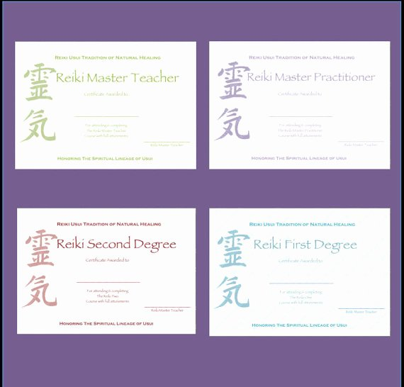 Reiki Certificate Template Free Best Of Download Plete Set Reiki Certificate Templates X4