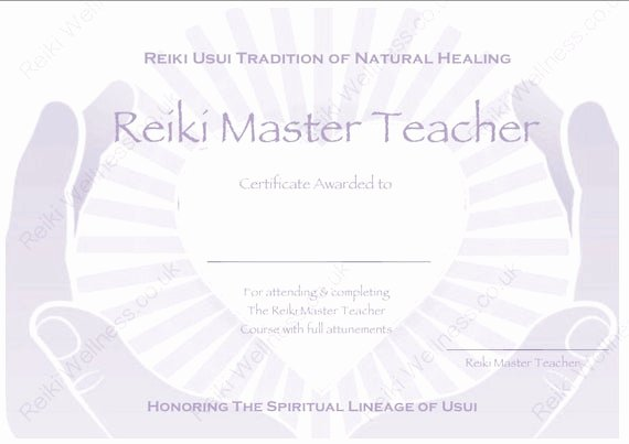 Reiki Certificate Template Free Download Awesome Download Plete Set Reiki Certificate Templates X4