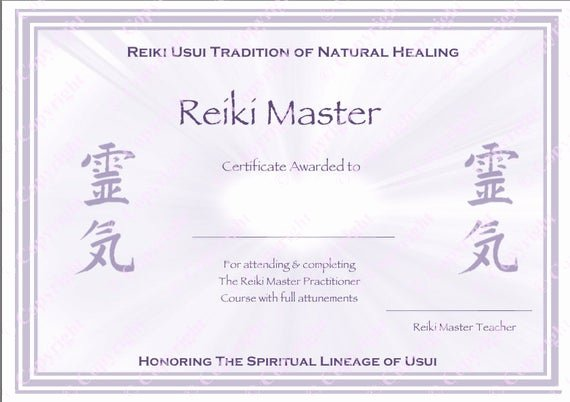 Reiki Certificate Template Free Download Best Of Download Plete Set Reiki Certificate Templates X4