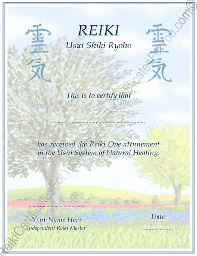 Reiki Certificate Template Free Download Elegant Customized Reiki Certificate Templates Tree by