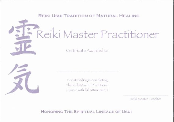 Reiki Certificate Template Free Download Fresh Download Plete Set Reiki Certificate Templates X4