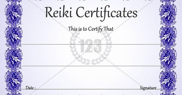 Reiki Certificate Template Free Download Fresh Most Healing Reiki Certificates for Download